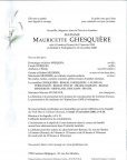 GHESQUIERE Mauricette