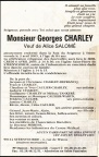 CHARLEY Georges veuf SALOME