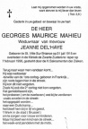 MAHIEU Georges Maurice veuf DEL'HAYE 1/2