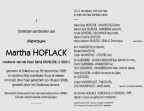 HOFLACK Martha veuve DEVELTER