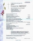 MENET Colette epouse DE BACKRE