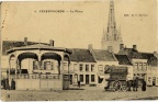 Grand-Place de Steenvoorde avec Kiosque