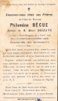 BECUE Philomene epouse DEGRAVE