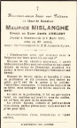 MISLANGHE Maurice epoux AMELOOT